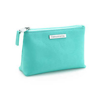 Tiffany & Co. - Cosmetics bag in Tiffany Blue® leather, small. More colors available.