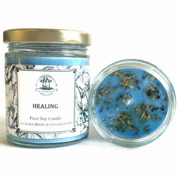 Healing Soy Spell Candle for Wiccan, Pagan, Hoodoo & Voodoo Rituals