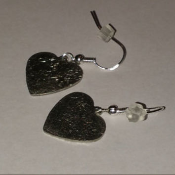 Heart textured earrings, gifts for her, women jewelry, textured earrings, hammered jewelry, silver earrings, gift ideas, hammered earrings