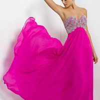 Blush Floor Length Strapless Dress