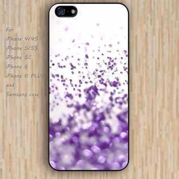 iPhone 5s 6 case sparkle  lavender silver dream phone case iphone case,ipod case,samsung galaxy case available plastic rubber case waterproof B733