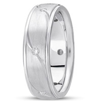 0.18ctw Diamond 14K Gold  Wedding Band (7mm) - (F - G Color, SI2 Clarity)