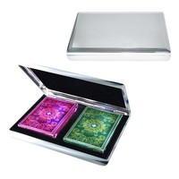 Two Deck Card & Case Set (Silver)