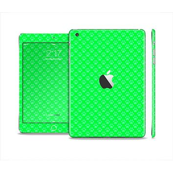 The Subtle Green Paw Prints Skin Set for the Apple iPad Mini 4