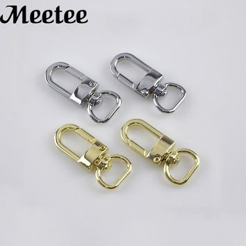 5Pcs Plating Metal Bags Buckles Handbag Hook Clasp Dog Collar Buckle Outdoor Backpack Bag Parts DIY Accessory Sewing Decoration