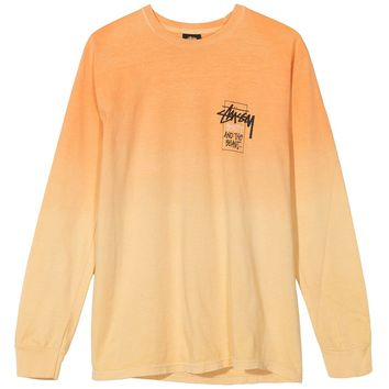 Stussy Offering Dip Dyed LS Tee Orange
