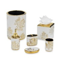 Laura Ashley Eleanora Gold/Cream Bathroom Accessories