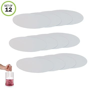 Evelots Hamburger Press Divider Discs, (Press Not Included), White, Set of 12