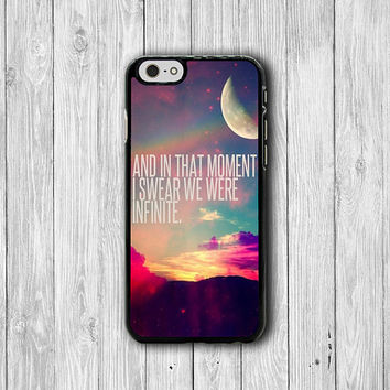 iPhone 6 Case -I Swear We Infinite QUOTE Hipster Nebula Galaxy Phone Cases, Text iPhone 5, 5S, iPhone 4,4S Cover, Personalized Custom Gift
