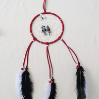 Disney The NIghtmare Before Christmas dreamcatcher-red suede