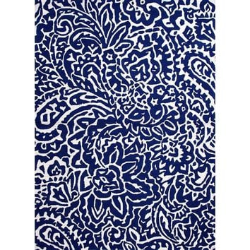Lina Indigo Blue Outdoor Rug