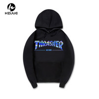 Thrasher Hoodie Sweatshirt Hooded Pullover Streetwear Skateboards Trasher Hoodies Men Fleece Tracksuit 5 colors 5 Size