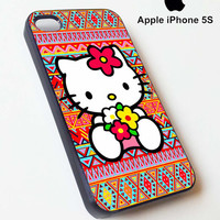Hello kitty on aztec pattern drop for iphone case and samsung galaxy case