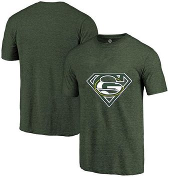 High Quality Summer Fashion Men's Packers Fans T-Shirt, Green Bay Tees Superman S Logo Picture Printing Classical O-neck T Shirt