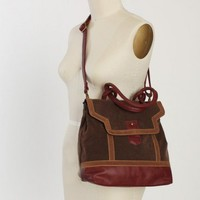 international micro suede satchel backpack at ShopRuche.com