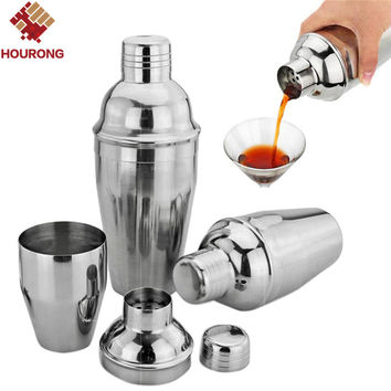 1Pcs 550ml Stainless Steel Cocktail Shaker Cocktail Mixer Wine Martini Drinking Boston Style Shaker For Party Bar Tool