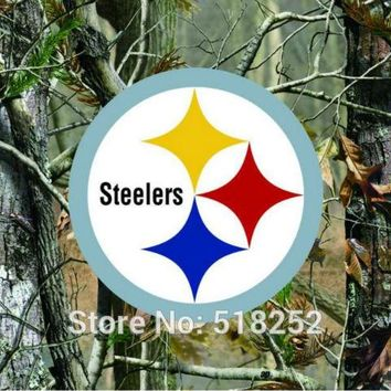 Pittsburgh Steelers real tree camo Flag 150X90CM NFL 3x5 FT Banner 100D Polyester Custom flag grommets 6038,free shipping