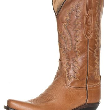 "Old West Women's 12"" Snip Toe Western Boots - Honey Brown"