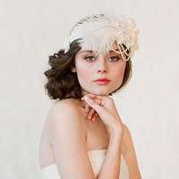 Flapper inspired bridal headband  Style 148  Made to by myrakim
