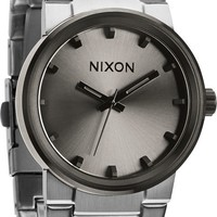 Nixon Cannon Silver & Gunmetal Analog Watch
