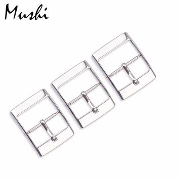 MS Watch Accessories for Swatch Strap Buckle SWATCH Silicone Watch Band Stainless Steel Strap Buckle 16/20mm Rubber Straps 3pcs