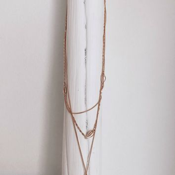 The Afternoon Gold Layered Seashell Necklace