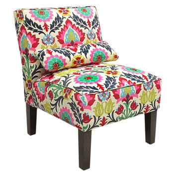 Bergman Armless Cotton Chair, Multi, Accent & Occasional Chairs
