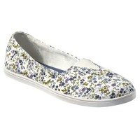 Womens Mossimo Supply Co. Leva Canvas Flat - Green Floral