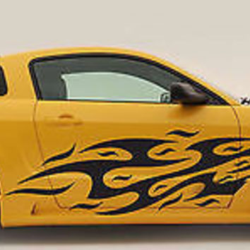 CAR VINYL GRAPHICS STICKER TRIBAL FLAME EAGLE MUSTANG GT NISMO 350Z RACING 013