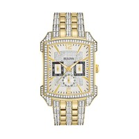Bulova Men's Crystal Gold Tone Stainless Steel Watch - 98C109 (Two Tone)