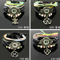 Kpop XOXO Wrist Watch EXO-K EXO-M Luhan  Vintage Chain Bracelet Watches