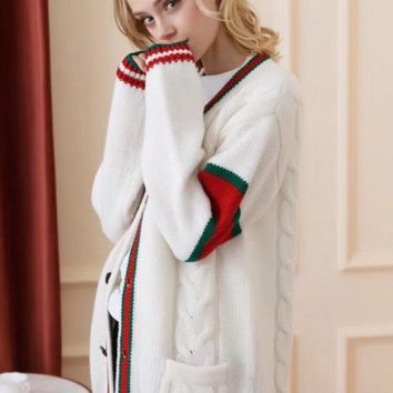 2019 Gucci autumn and winter new men and women sweater Jacket trend couple models print