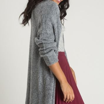 Faye Grey Knit Cardigan