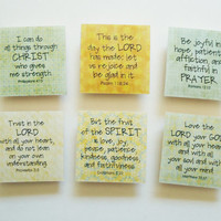 50% OFF SALE! Bible Verse Christian Scripture God Jesus Prayer Square Photo Magnets 2x2 Inches