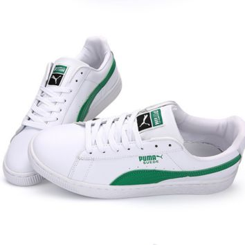 PUMA Pigeon Women Men Casual Running Sport Shoes Sneakers White green
