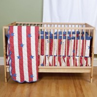 Stars and Stripes Baby Bedding | Patriotic Baby Bedding by Sin in Linen