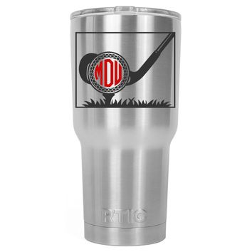 RTIC Monogrammed Golf Ball 30 oz Tumbler Cup