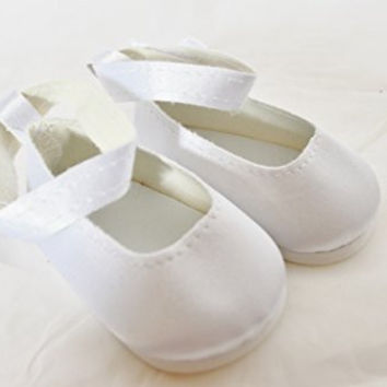 WHITE STRAP SHOES FOR AMERICAN GIRL DOLLS