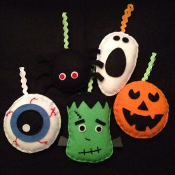 Halloween decorations - Halloween decor - Halloween ornaments - Set of five