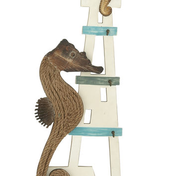 Sea Horse Wood Nautical Wall Decor