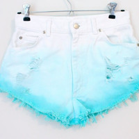 Custom dyed high waisted shorts