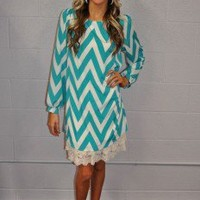 Turquoise Cloud Nine Dress - Modern Vintage Boutique