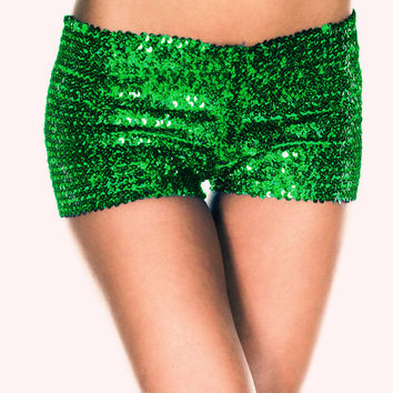 Green Shiny Sequined Panties