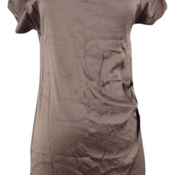 Banana Republic Taupe Silk Mini Dress 67% off retail