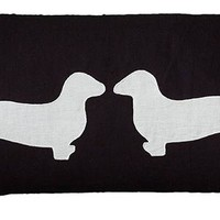 Two Dachshunds Pillow - Dog Pillows - Accent Pillows - Toss Pillows - Couch Pillows - Decorative Pillow | HomeDecorators.com