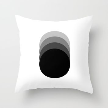 #32 Circles Throw Pillow by Minimalist Forms