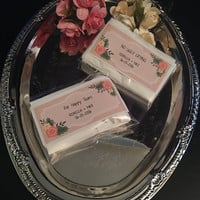 Personalized Tissue Packets, No Ugly Crying, Happy Tears by Wedding Tokens