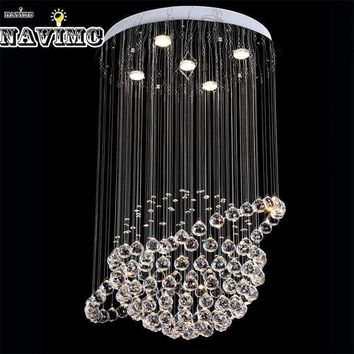 Modern LED Crystal Ceiling Lights Cristal Lustres Fitting Flush Mount Lighting Fixtures Globe Design lamp For Hotel Restaurant