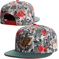 rose cap adjustable baseball snapback hat