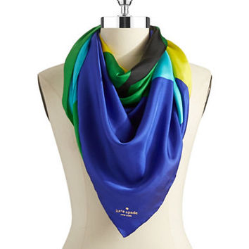 Kate Spade New York Colorblocked Large Silk Square Scarf